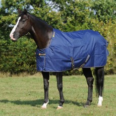 Bucas Irish Turnout 150 Rug (Navy/Gold)