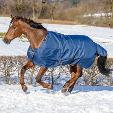 Bucas Irish Turnout Extra 300 Rug (Navy/Gold)