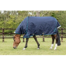 Mark Todd Heavyweight Turnout Rug with Detachable Neck (Navy & Jade)