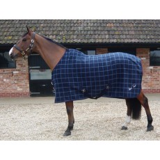 Mark Todd Bonded Fleece Rug (Navy Plaid)