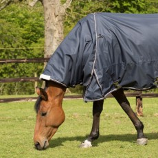 Mark Todd Lightweight Turnout Neck Cover (Navy & Beige)