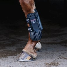Equilibrium Tri-Zone Open Fronted Tendon Boots (Black)
