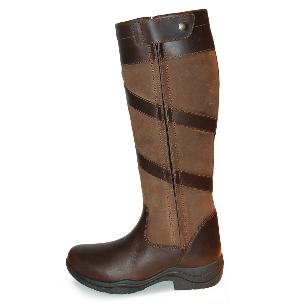 Brown Mark Todd Women S Waterproof Tall Zip Boots Old