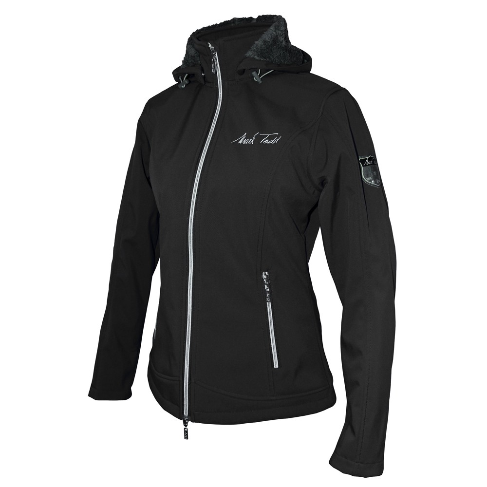 Mark Todd Women S Softshell Fleece Lined Jacket Black