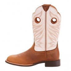 Ariat Women's Round Up Stockman Western Boots (Crushed Peanut)