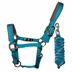 Woof Wear Head Collar and Lead Rope Colour Fusion (Ocean)