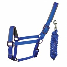 Woof Wear Head Collar and Lead Rope Colour Fusion (Electric Blue)