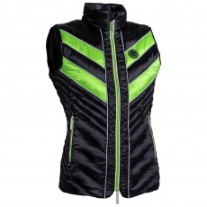 Equisafety Adults Azar Quilted Gilet (Green/Black)