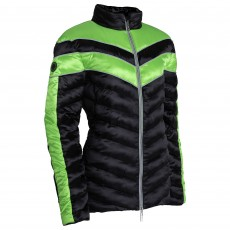 Equisafety Adults Vincenzo Quilted Jacket (Green/Black)