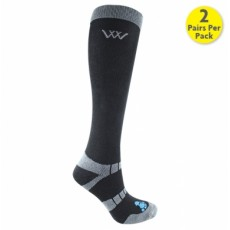 Woof Wear Bamboo Waffle Long Riding Sock (Black)