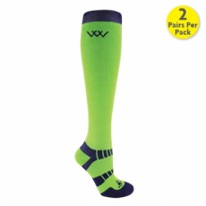 Woof Wear Bamboo Waffle Long Riding Sock (Lime)