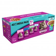 Whiskas 1+ Cat Pouches (Fish Selection In Jelly) 40 x 100g