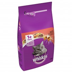 Whiskas 1+ Dry Cat Food (Beef) 2kg
