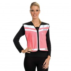 Equisafety Air Waistcoat - Please Pass Wide & Slow (Pink)