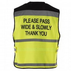 Equisafety Air Waistcoat - Please Pass Wide & Slow (Yellow)