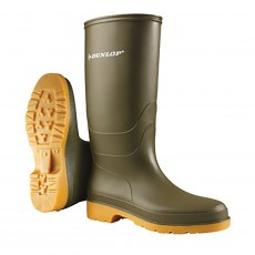 Dunlop Junior Wellies (Dull Green)