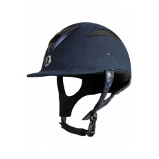 Gatehouse (Ex Display) Conquest MKII Riding Hat (Suedette Crystal Navy)