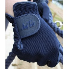 Mark Todd Adults Super Riding Gloves (Navy)