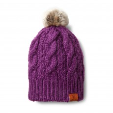 Ariat Cable Beanie (Imperial Violet)