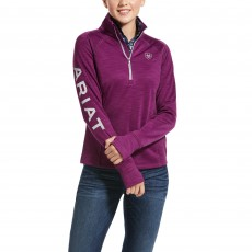 Ariat Women's Tek Team 1/2 Zip Sweatshirt (Imperial Violet Heather)
