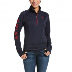 Ariat Women's Tek Team 1/2 Zip Sweatshirt (Navy Heather)
