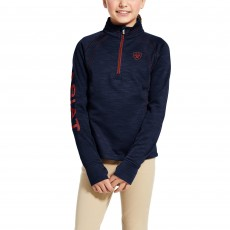 Ariat Youth Tek Team 1/2 Zip Sweatshirt (Navy Heather)