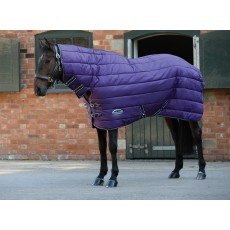 Weatherbeeta Comfitec - 210D Channel Quilt Stable Rug - Combo Neck - Heavyweight (Purple/Black)