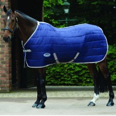 Weatherbeeta Comfitec - 210D Channel Quilt Stable Rug - Standard Neck - Med/Lite (Navy/Silver/Red)