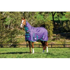 Weatherbeeta Comfitec - Essential Turnout Rug - Combo Neck - Heavyweight (Purple/Green)