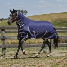 Weatherbeeta Comfitec - Essential Turnout Rug - Combo Neck - Lightweight Plus (Navy/Silver/Red)