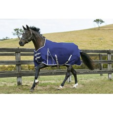 Weatherbeeta Comfitec - Essential Turnout Rug - Standard Neck - Lightweight (Navy/Silver/Red)