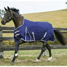 Weatherbeeta Comfitec - Essential Turnout Rug - Standard Neck - Lightweight Plus (Navy/Silver/Red)