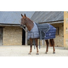 Weatherbeeta Comfitec - PP Channel Quilt II Stable Rug - Combo Neck - Heavyweight (Blue/Grey/White)