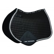 Weatherbeeta Prime Bling Jump Shaped Saddle Pad (Black)