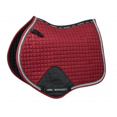 Weatherbeeta Prime Bling Jump Shaped Saddle Pad (Maroon)