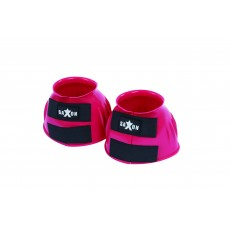 Saxon Double Tape Pvc Ribbed Bell Boots (Pink)