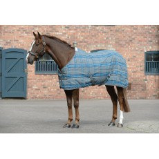 Saxon PP II - Stable Rug - Standard Neck - Mediumweight (Grey/Blue Plaid)