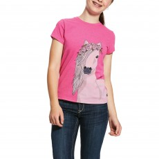 Ariat Girl's Festival Horse T-Shirt (Pink Heather)