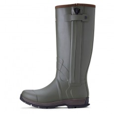 Ariat Men's Burford Insulated Zip Wellington Boots (Olive Green)