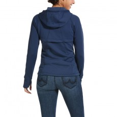 Ariat Women's Attain Full Zip Hoodie (Marine Blue)