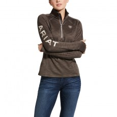 Ariat Women's Tek Team 1/2 Zip Sweatshirt (Banyan Bark Heather)
