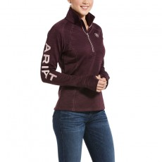 Ariat Women's Tek Team 1/2 Zip Sweatshirt (Winetasting Heather)