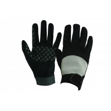 Dublin Adult's Cross Country Riding Gloves II (Black/Grey)