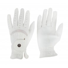 Dublin Adults Dressage Riding Gloves (White)