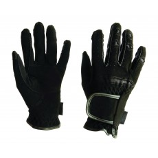 Dublin Adult's Everyday Mighty Grip Riding Gloves (Black)