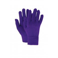 Dublin Adult's Magic Pimple Grip Riding Gloves (Dark Purple)