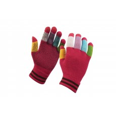 Dublin Adult's Magic Pimple Grip Riding Gloves (Pink Multi)