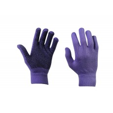 Dublin Adult's Magic Pimple Grip Riding Gloves (Purple)