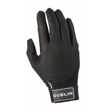 Dublin Adult's Meshback Riding Gloves (Black)