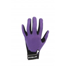 Dublin Adult's Meshback Riding Gloves (Purple)
